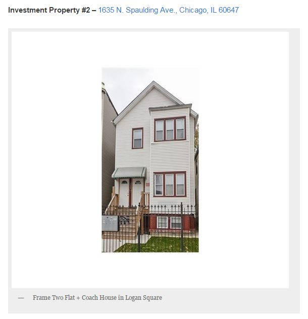 traditional chicago 3 flat in logan square