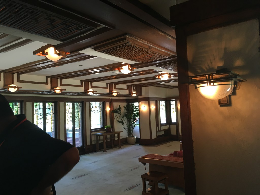 Entry into the second story Robie House