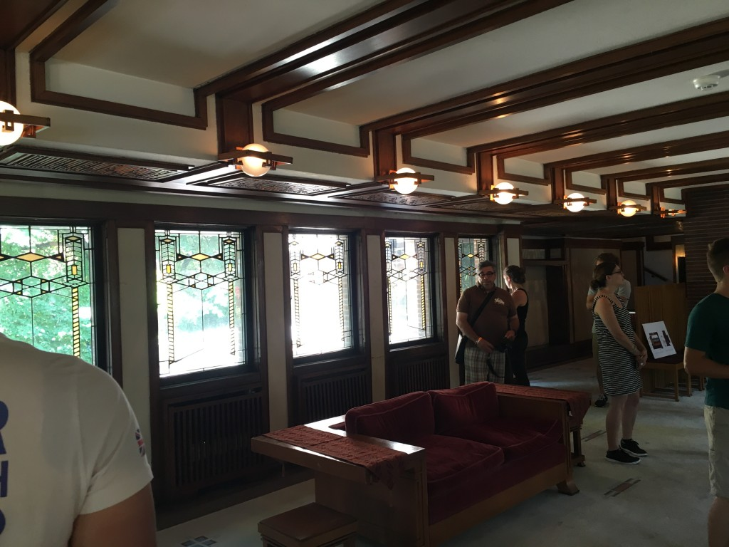 Interior of Robie House Living room.